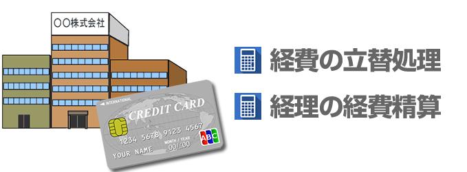 法人カードは経費の立替処理や経費の精算処理に使用