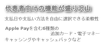 三井住友ビジネスプラチナカード for Owners特徴