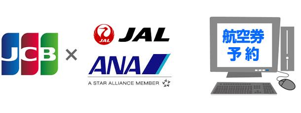 JCBと航空会社によるインターネットでの航空券予約サービスです