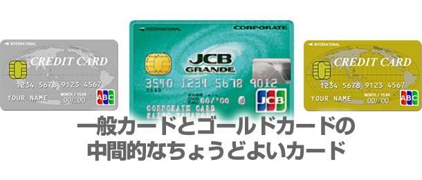 一般カードとゴールドカードの中間的なちょうどよいカード
