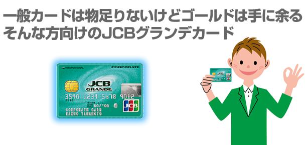 一般カードは物足りないけどゴールドは手に余るそんな方向けのJCBグランデカード