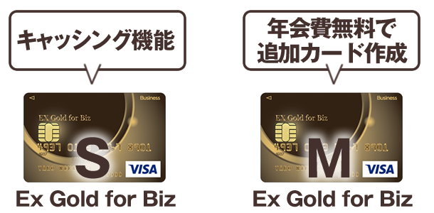 EX Gold for Biz、SとMの特徴