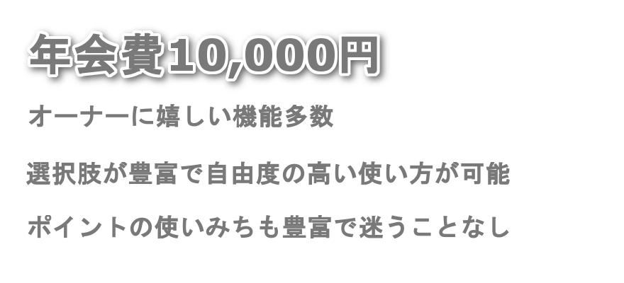 三井住友ビジネスゴールドカード for Owners特徴